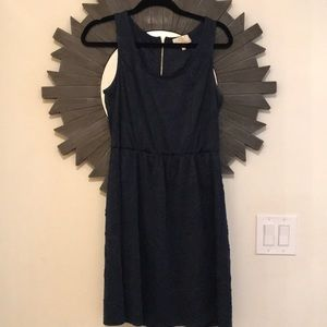 Collective Concepts navy dress with lace accent